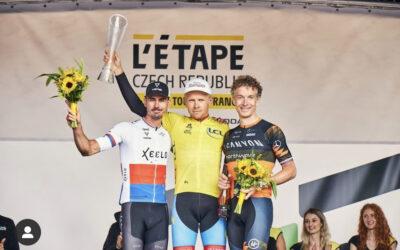 Z L'Etape by Tour de France máme puntíkatý dres a kousek chyběl k žlutému;-)